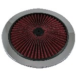 Redline 16-112 - Hi-Flow Cotton Filter Top 9-inch dia Chrome