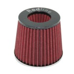 Redline 16-522 - Pod Air Filter Conical Type 76mm neck Carbon Fibre look