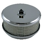"Redline 16-6 - Air Filter 6 3/8-inch dia x 2"" high. Suits 2bbl & 4bbl Holley with 5 1/8-inch neck"