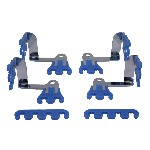 Redline 28-124 - Blue Wire Loom Kit Right Angle