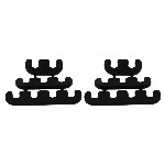 Redline 28-139 - Wire Separators Black Plastic