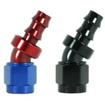 Speedflow 400 Series 30 Degree Hose End 407-xx - Available in Red/Blue and Black