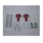 Redline 48-95 - Red economy hood pin Kit Alloy