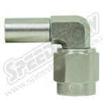 Speedflow 200 Series Crimped 90 Degree Hose End 520-03-43-S -3 Crimp to -4 Swivel