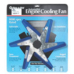 Flex-a-lite F1038 - 18-inch Low Profile Flex Fan Blue Blades