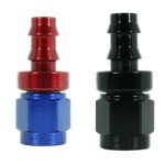 Speedflow 400 Series Straight Hose End 401-xx - Available in Red/Blue and Black